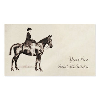 Sidesaddle horse and rider business card