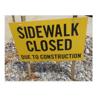 Sidewalk Closed Postcard