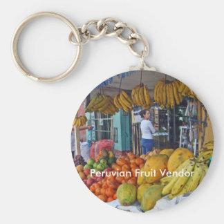 Sidewalk Fruit Vendor in Peru Key Ring