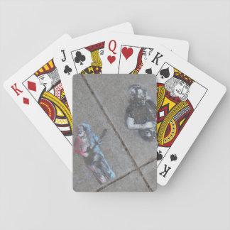 sidewalk outside JG house Playing Cards