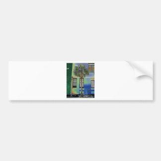 Sidewalk Palm Tree Bumper Sticker