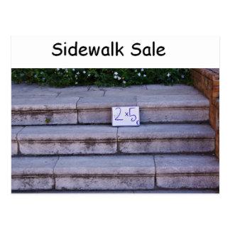 Sidewalk Sale Postcard