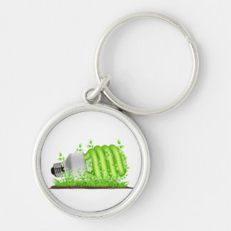 sideways cfl light bulb plants ecology.png Silver-Colored round key ring