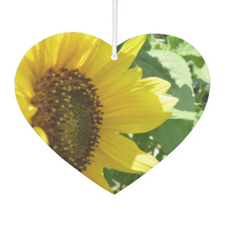 Sideways Sunflower Car Air Freshener