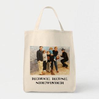 sidewinder, reduce, reuse, sidewinder tote bag