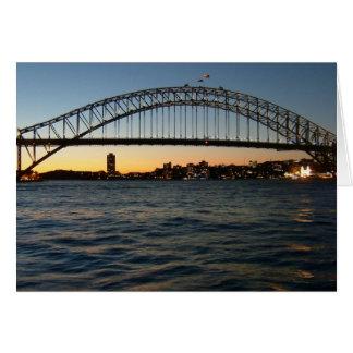 sidney bridge greeting card