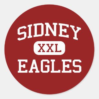Sidney - Eagles - High School - Sidney Montana Round Stickers