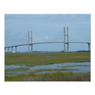 Sidney Lanier Bridge Brunswick Georgia Photo Print