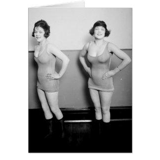 Sidney Lust Girls Vintage 1919 Glamour Photo Card