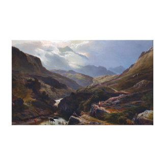 Sidney Richard Percy On the Road to Loch Turret Canvas Print