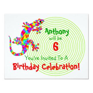 Sidney Salamander Birthday Party Invitation