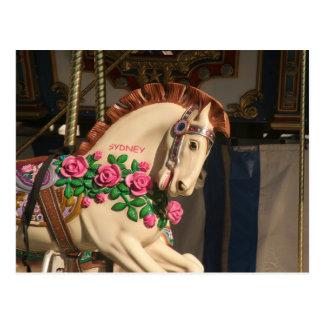Sidney the Carousel Horse Postcard