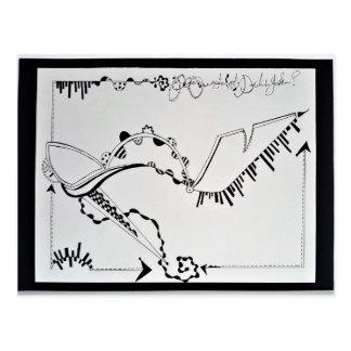 SieCel Fashion Shoe Drawing Print Postcard
