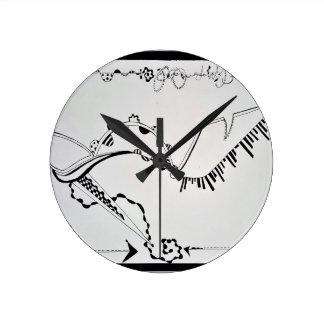 SieCel Fashion Shoe Drawing Print Round Clock