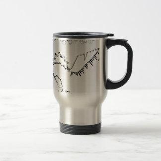 SieCel Fashion Shoe Drawing Print Travel Mug