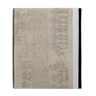 Siege of a city on the bank of a river, plate 42 f iPad folio cases