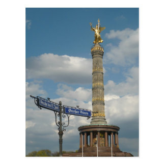 Siegessäule, Victory Column, Berlin, Germany. Postcard