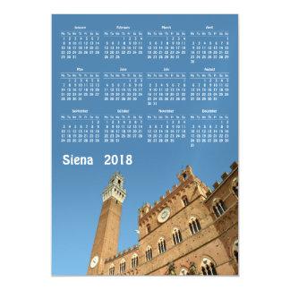Siena, Italy 2018 calendar magnetic card
