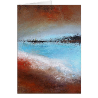 Siena Turquoise Abstract Card- Blank Inside Card