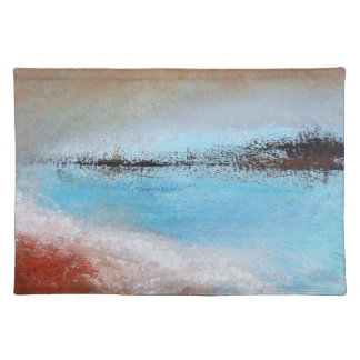 Siena Turquoise Abstract Cloth Placemat