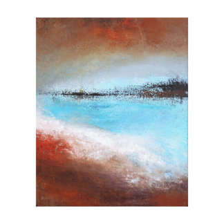 Siena Turquoise Wrapped Canvas