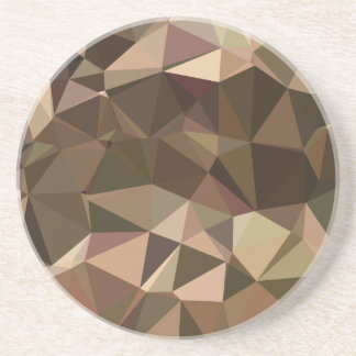 Sienna Abstract Low Polygon Background Beverage Coaster