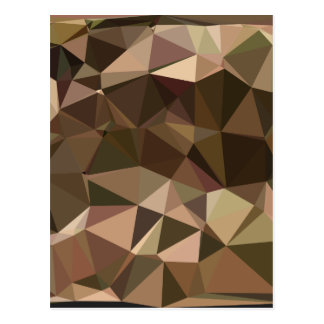 Sienna Abstract Low Polygon Background Postcard