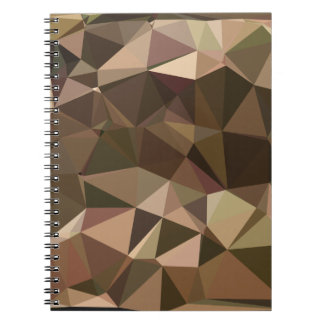 Sienna Abstract Low Polygon Background Spiral Notebooks