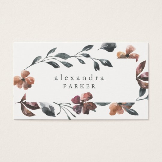 Sienna Botanical | Watercolor Floral Business Card