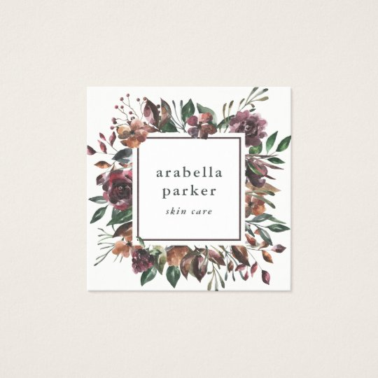 Sienna Botanical | Watercolor Floral Social Media Square Business Card