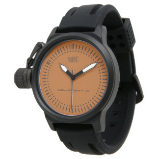 Sienna brown color accent watch ready to customize
