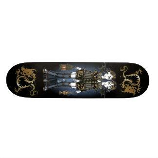 """Sienna & Celeste"" Dragon Twin Fairies Skate Board"