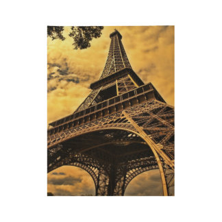 Sienna Eiffel Tower Poster Wood Poster