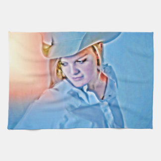 Sienna Kitchen Towel Western Cowgirl