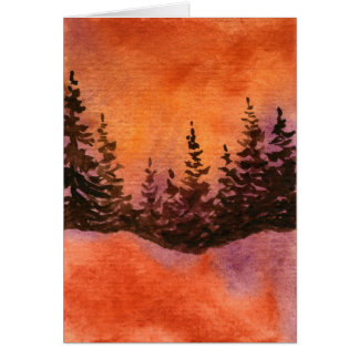 """""""Sienna Sky Pines"""" Country Roads Greeting Card"""