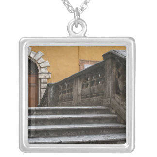 Sienna, Tuscany, Italy - Low angle view of Silver Plated Necklace