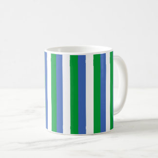 Siera Leone flag stripes lines pattern Coffee Mug