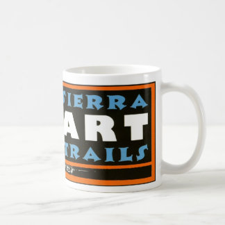 Sierra Art Trails logo wrapped mug