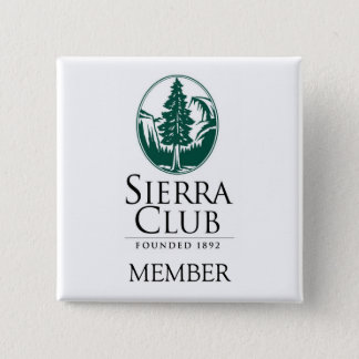 Sierra Club, MEMBER, MEMBER 15 Cm Square Badge