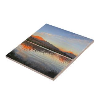 Sierra Crest Sunset - John Muir Trail Ceramic Tile