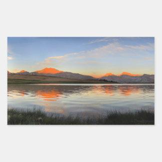 Sierra Crest Sunset - John Muir Trail Rectangular Sticker