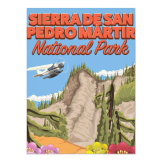 Sierra de San Pedro Mártir National Park 17 Cm X 22 Cm Invitation Card
