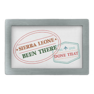Sierra Leone Been There Done That Belt Buckle