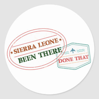 Sierra Leone Been There Done That Classic Round Sticker