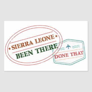 Sierra Leone Been There Done That Rectangular Sticker