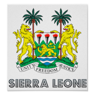 Sierra Leone Coat of Arms Poster