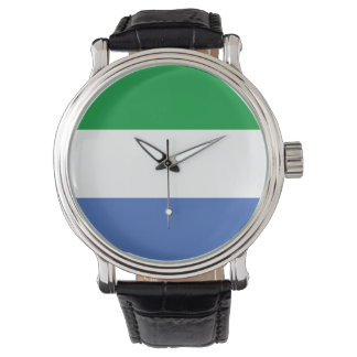 Sierra Leone country flag nation symbol Wristwatches