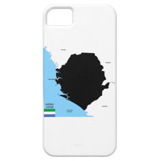 sierra leone country political map flag iPhone 5 cover