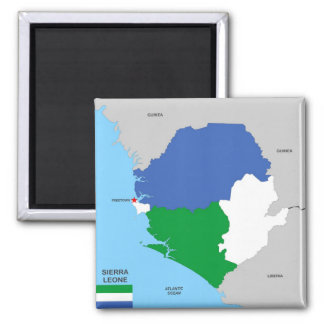 sierra leone country political map flag magnet