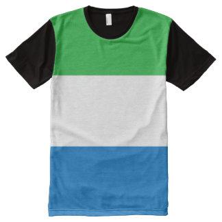 Sierra Leone Flag All-Over Print T-Shirt